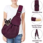 SlowTon Pet Carrier, Doggie Cat Hand Free Sling Carry Dog Papoose Carrie Adjustable Padded Shoulder Strap Tote Bag with...
