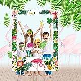 Luau 写真ブース小道具フレーム トロピカルパーティーデコレーション - ハワイアン トロピカル ティキパーティー フォトブースフレームデコレーション ベビーブライダルウェディングシャワー