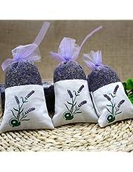 TAKARAFUNE ラベンダー 香り袋 天然 ポプリ 匂い袋 寝室 洗面所 部屋 防臭 防虫 人工香料なし 3点セット