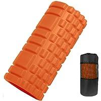 LEEPWEI フォームローラー 筋膜リリース グリッドフォームローラー ヨガポール トレーニング スポーツ フィットネス ストレッチ器具 収納バッグ