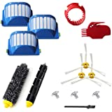 VacuumPal 10pcs Accessories for iRobot Roomba 600 Series 595 614 620 630 645 650 655 660 680 690 Vaccum Cleaner Replenishment