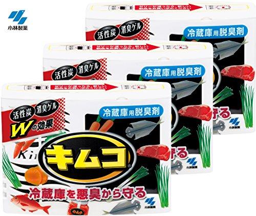キムコ 冷蔵庫脱臭剤 冷蔵庫用 効き目約6ヶ月×3個
