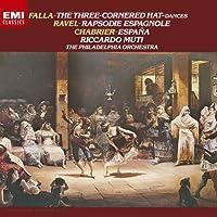 シャブリエ:狂詩曲「スペイン」、ラヴェル:スペイン狂詩曲、ファリャ:バレエ組曲「三角帽子」