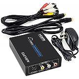 ELEVIEW HDMI to コンポジット/S端子 変換器 デジタル アナログ 変換 HDMIを RCA/S-Videoへ変換 1080P hdmi rca 変換 hdmiコンバータ アナログ変換器 hdmi コンポジット変換 S-Video変換