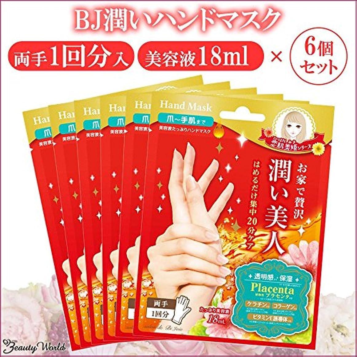 リール広告スキムビューティーワールド BJ潤いハンドマスク 18ml/1回分 6個セット