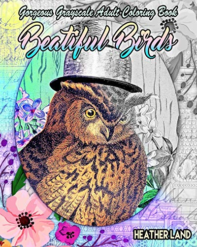 Download Beautiful Birds: Grayscale Vintage Adult Coloring Book 153284459X