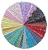 Grannycrafts 綿生地 はぎれセット 花柄 DIY手作り 生地 はぎれセット カットクロス パッチワーク綿布 手芸材料 裁縫材料 70枚セット 20x30CM