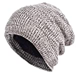 [TARO WORKS] ミックス 裏起毛 防寒 ロールアップワッチ ニット帽 ビーニー 秋 冬 Unisex