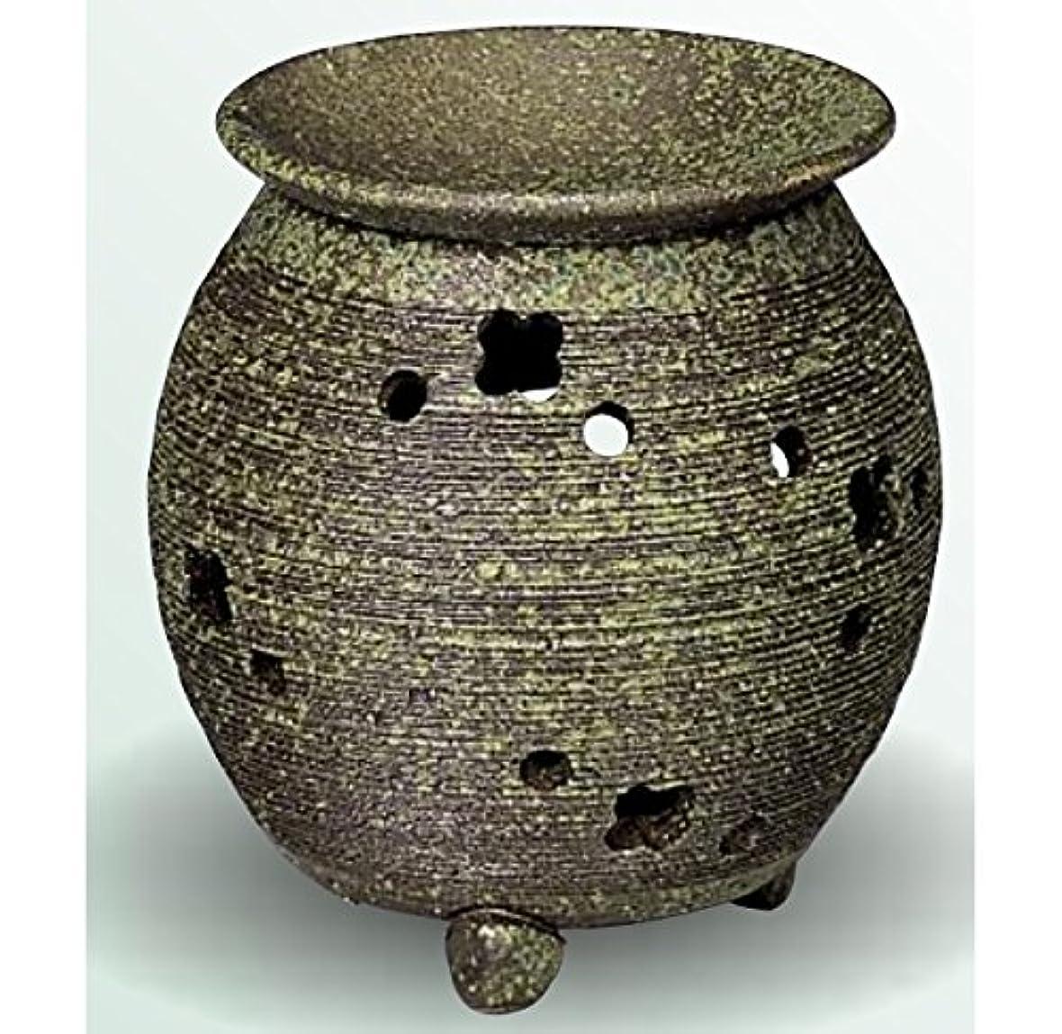 として効率社会常滑焼 茶香炉(アロマポット) 径10×高さ11.5cm
