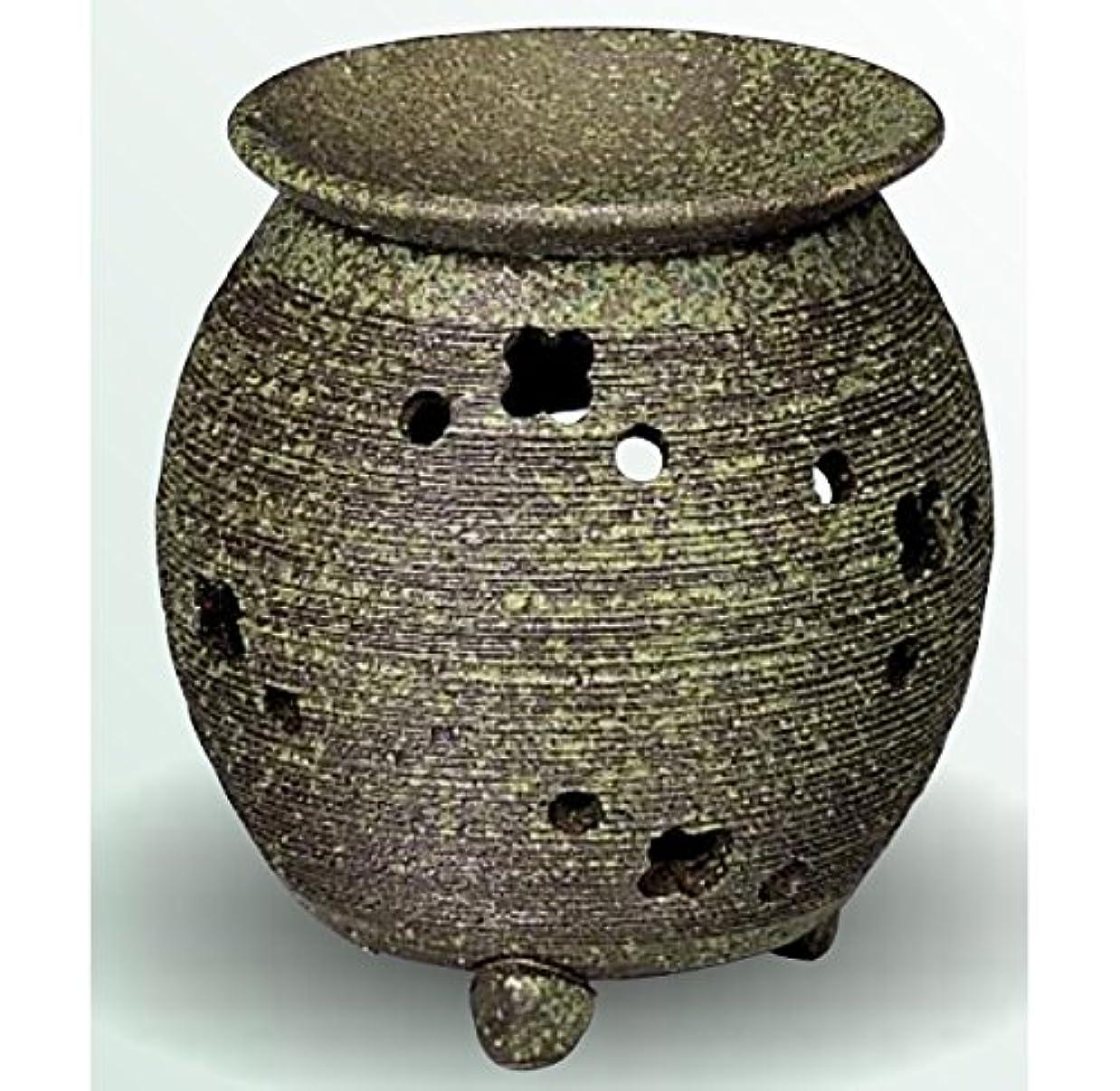 イヤホン路地曇った常滑焼 茶香炉(アロマポット) 径10×高さ11.5cm