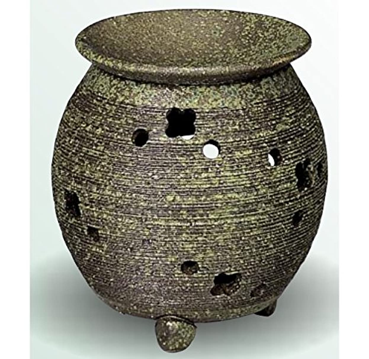 スクラブモート穴常滑焼 茶香炉(アロマポット) 径10×高さ11.5cm