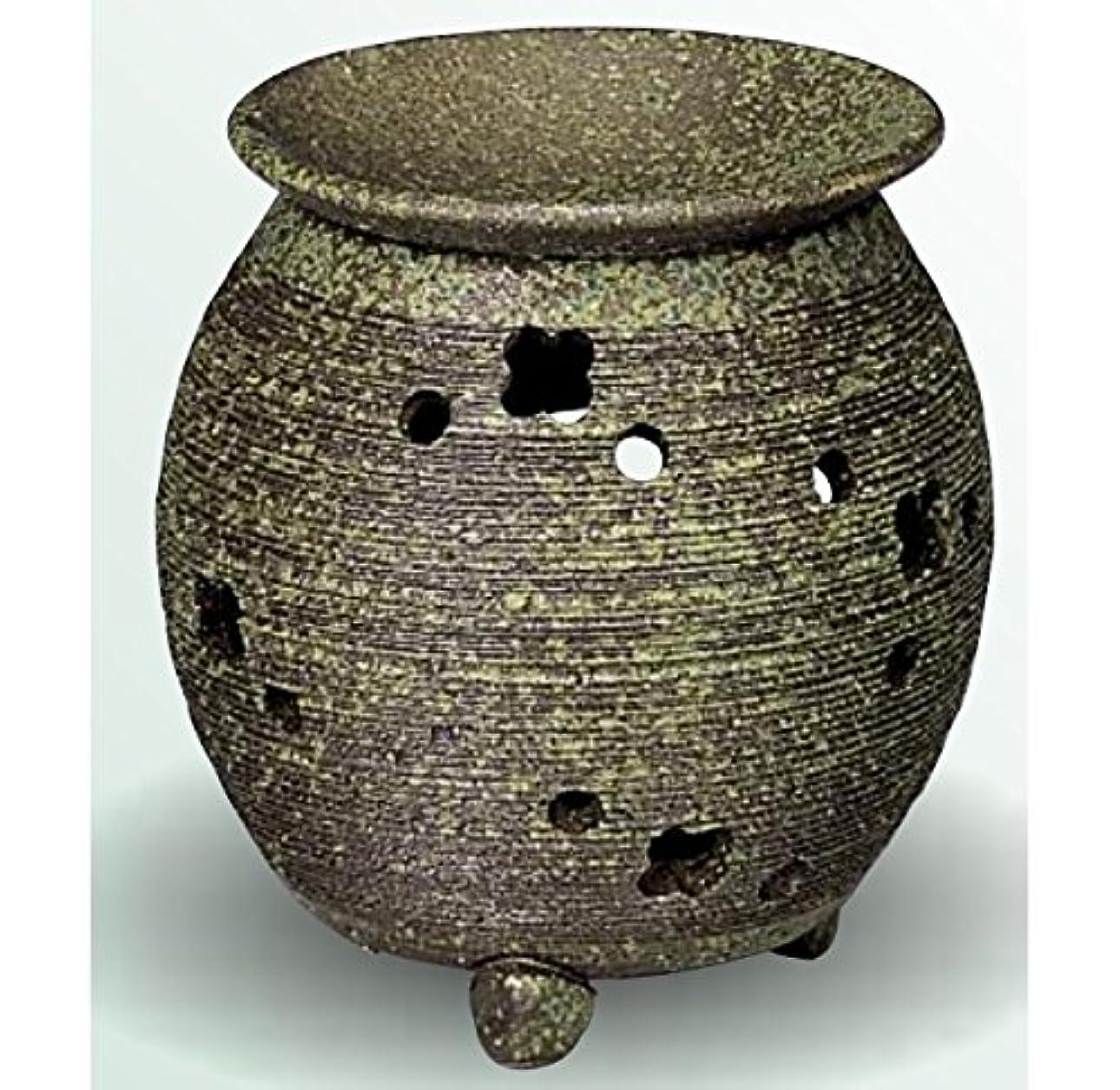 不機嫌そうな業界ケージ常滑焼 茶香炉(アロマポット) 径10×高さ11.5cm