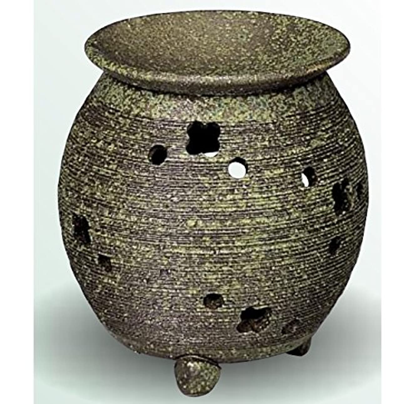 ケニア尊敬する膨らみ常滑焼 茶香炉(アロマポット) 径10×高さ11.5cm