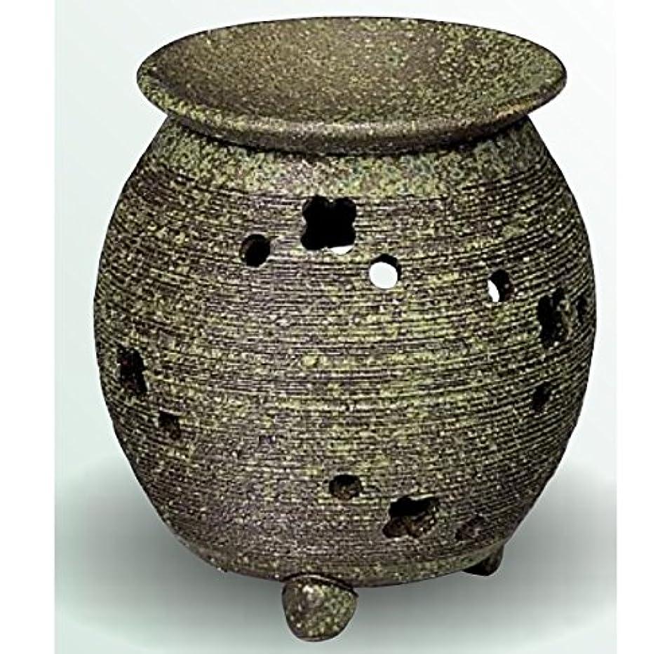 微妙手足九時四十五分常滑焼 茶香炉(アロマポット) 径10×高さ11.5cm