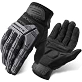 ROCK BROS Mountain Bike Gloves Dirt Bike Gloves Motorcycle Cycling Gloves with 6MM Gel Pad Touch Screen Knuckle Protection Gl