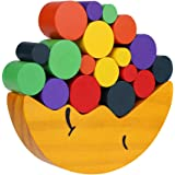 Kids Wooden Blocks Moon Shaped Balance Stacking Toys Early Learning to Develop Strategic Thinking Fine Motor Skills
