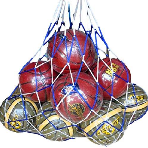リッチェ リッチェ Ricce 大容量 ! バスケットボール 10個 収容 特大 メッシュ ボールネット 網袋 ネット 簡易バッグ キャリーバッグ 袋 サッカーボール バレーボール フットサル バスケ サッカー バレー 学生 部活 試合 練習 レッド Red, 10個