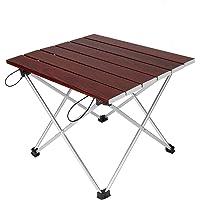 【ロールテーブル・キャンプ用品】 Linkax アルミ製 アウトドアテーブル 耐荷重30kg 専用収納袋付き (折畳テー…