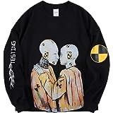 ASAP Graffiti Print Shirt Hip Hop Rapper Long Sleeve Tshirt Crew Neck Sweatshirt