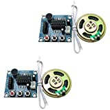 Ximimark 2Pcs ISD1820 Sound Voice Recording Playback Module Sound Recorder Board With Microphone Audio Loudspeaker