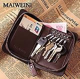 CarOver 財布型キーケース スマートキーケース 6連 カードケース PUソフトレザー(Fタイプ) M507-F