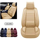 Oasis Auto OS-002 Leather Universal Car Seat Covers Automotive Vehicle Cushion That Fits All Sedan Most SUV and Small Pick-Up