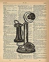 辞書印刷–アンティーク電話Upcycledヴィンテージ辞書ページポスター–サイズ8x 10