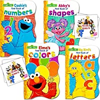 Sesame Street First Board Books - Set of Four (ABCs, 123s, Colors, Shapes) by Sesame Street