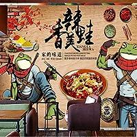 Wuyyii カスタム3D壁画壁紙珍味料理スパイシーな食品壁画レストランの背景壁の壁紙3 D