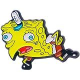 Sarcastic Spongebob Meme Enamel Pin | Spongebob Meme Pin Brooch Joke pin Cool pins Cute pins for Backpacks Kawaii