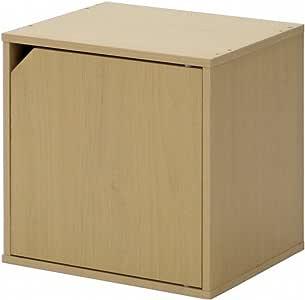 キューブボックス 扉付き ホワイト