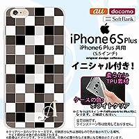 i6plus スマホケース iPhone6 Plus/iPhone6s Plus ケース アイフォン6/6s プラス ソフトケース イニシャル スクエア グレー nk-i6plus-tp1016ini P