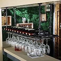 ワイングラスラック、シェルフワイングラスホルダー、ワイングラスラック、ワイングラスラック、シャンパングラスラック、ガラス器具ラック グラスホルダー (Color : Black, Size : 80*30cm)