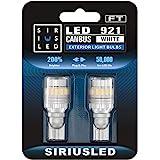 SIRIUSLED - FT- 921 922 579 LED Backup Reverse Light Bulb Super Bright High Power 3030+4014 SMD White 6500K Pack of 2
