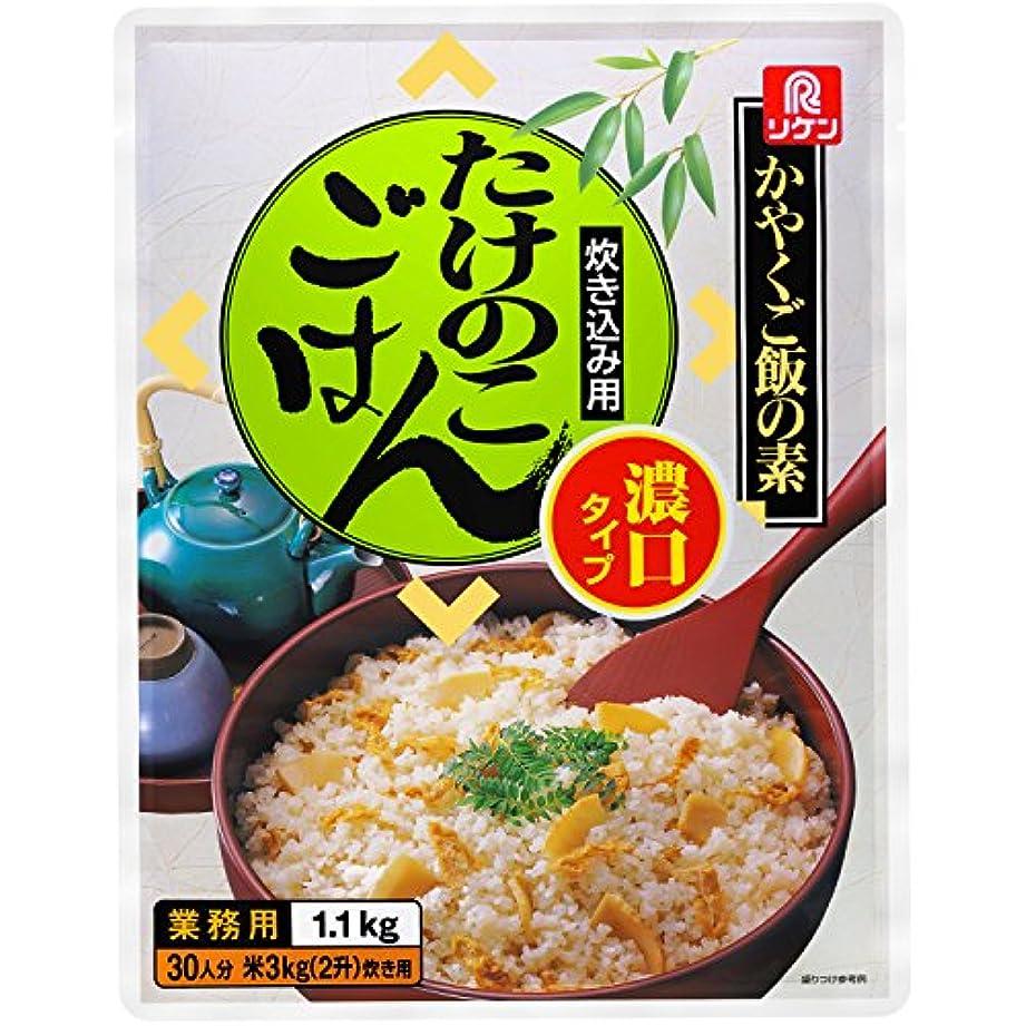 瞳合法事前にリケン かやくご飯の素 炊き込み用 たけのこごはん濃口タイプ 1.1kg