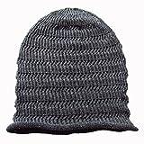 (エッジシティー)EdgeCity サマーニット帽 ヘンプ 麻 ニット帽 (92/ダークグレー)