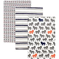 Yoga Sprout 3 Piece Muslin Swaddle Blankets, Lion Collection by Yoga Sprout