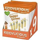 Kiddylicious Lentil straws, 108g (Pack of 9)