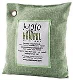 MosoNatural Bag・モソバッグ 500g 2年間消臭 夏にも最適 調湿機能 モソナチュラル 日本食品分析センターが認めた 99.9%消臭 空気清浄バッグ 最高級竹炭使用 麻生地 有害な汚染物質やアレルギー源除去に (Green)