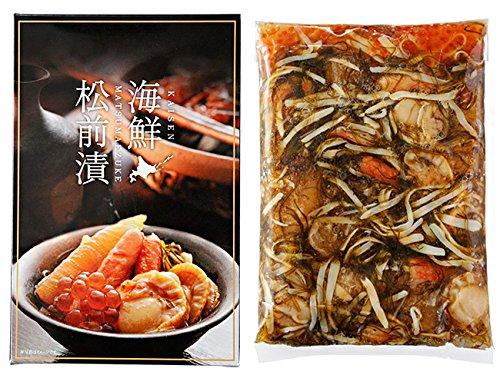 海鮮松前漬500g(北海道の郷土料理 まつまえづけ)ニシンの卵かずのこ 昆布 するめ ずわいがに 帆立 いくら