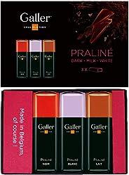 Galler ガレー チョコレート ベルギー王室御用達 ホワイトデー ミニバー3個入 (プラリネ)
