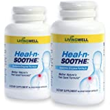 HEAL-N-SOOTHE 180 Count Two Pack Pain Relief Anti Inflammatory Supplement Proteolytic Enzyme Joint Pain Relief Natural Pain R