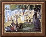 Georges Seurat Grande Jatte Sunday Afternoon on the island framedキャンバスジークレー印刷–Finishedサイズ(W) 27.4CM x (H) 21.9