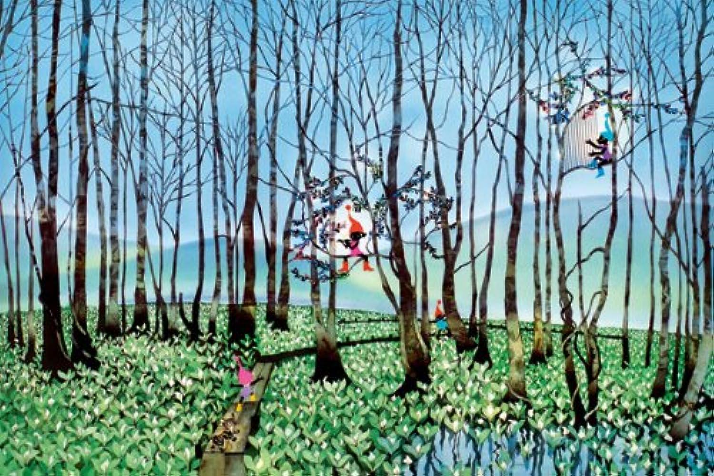 1000ピース 湿原のミズバショウとこびと (50x75cm)