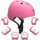 GLAF ヘルメット こども用 自転車 幼児 プロテクターセット ヘルメット3-12歳 頭囲48~57cm 子供用 保護具 超高耐衝撃性 耐久性 軽量 サイクリング スケートボード ローラースケート 幼児 小学生