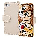 iPhone 8 ケース/iPhone 7 ケース/iPhone 6s ケース/iPhone 6 ケース ディズニーキャラクター/サガラ刺繍 手帳型ケース/チップ&デール