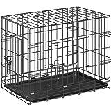ottostyle.jp 折り畳み式 ドッグサークル (トレイ付き) 小型犬用 幅60cm×奥行き43cm×高さ49cm 【ペットケージ、ドッグルーム】