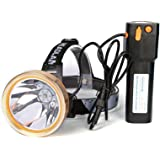 Hunting Friends High Power LED Headlamp Rechargeable Headlight Waterproof Head Flashlight Torch for Hunting Fishing Camping (