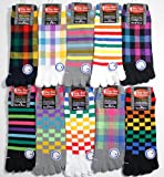 【5本指靴下】【メンズソックス】使いやすいカジュアルデザインの10足セット | 靴下 メンズ | 5本指ソックス
