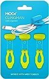 MOOY CLINGMAN(モーイ・クリングマン) ケーブルまとめ シリコンゴム製 3本セット カラフル 伸びる (グリ…